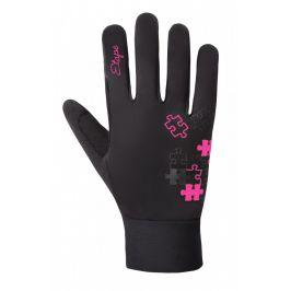 Dětské rukavice Etape Puzzle WS Dětská velikost: 7-8 let / Barva: černá/růžová