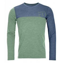 Pánské termoprádlo Ortovox 150 Cool Logo Long Sleeve Velikost: M / Barva: zelená