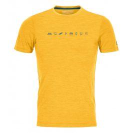 Pánské funkční triko Ortovox 120 Cool Tec Icons T-Shirt M Velikost: S / Barva: žlutá
