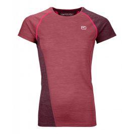 Dámské triko Ortovox 120 Cool Tec Fast Upward T-shirt W Velikost: S / Barva: červená