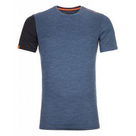 Pánské triko Ortovox 185 Rock'N'Wool Short Sleeve M Velikost: S / Barva: modrá