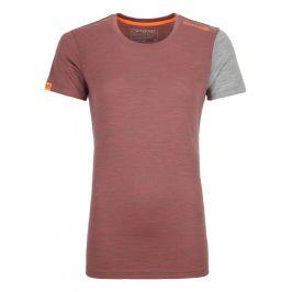 Dámské triko Ortovox 185 Rock'N'Wool Short Sleeve W Velikost: XS / Barva: červená