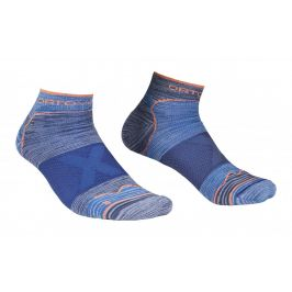 Pánské ponožky Ortovox Alpinist Low Socks M Velikost ponožek: 39-41 / Barva: šedá/modrá