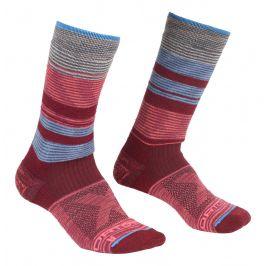Dámské ponožky Ortovox All Mountain Mid Socks W Velikost ponožek: 39-41 / Barva: červená/modrá