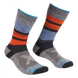 Pánské ponožky Ortovox All Mountain Mid Socks M Velikost ponožek: 42-44 / Barva: modrá/šedá
