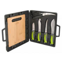 Grilovací nože Cattara sada 4+1+1 Barva: černá