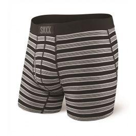 Boxerky Saxx Ultra Boxer Fly Back Crew Stripe Velikost: S / Barva: černá/šedá