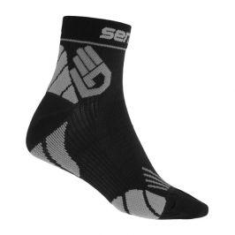 Ponožky Sensor Marathon Velikost ponožek: 39-42 / Barva : černá/šedá