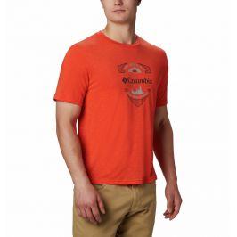 Pánské triko Columbia Nelson Point™ Graphic Velikost: XL / Barva: oranžová