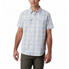 Pánská košile Columbia Silver Ridge™ 2.0 Multi Plaid S/S Shirt Velikost: M / Barva: bílá