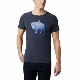 Pánské triko Columbia M Piney Falls Graphic Tee Velikost: M / Barva: tmavě modrá