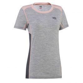 Dámské triko Kari Traa Lam tee Velikost: S / Barva: šedá/růžová