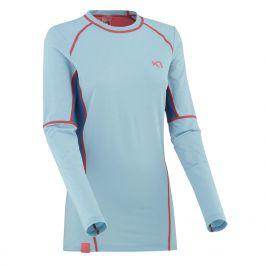 Dámské funkční triko Kari Traa Svala LS Velikost: S / Barva: modrá/růžová