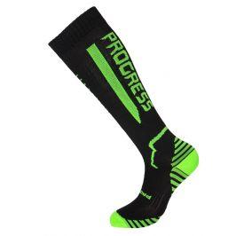 Ponožky Progress P Cox 8UU Compress Velikost ponožek: 39-42 / Barva: černá/žlutá