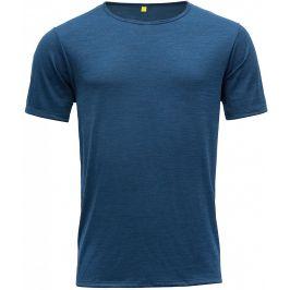 Pánské triko Devold Sula Man Tee Velikost: L / Barva: modrá