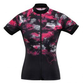 Dámský cyklistický dres Alpine Pro Marka Velikost: S / Barva: černá/růžová