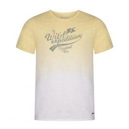 Pánské triko Alpine Pro Gang Velikost: XXXL / Barva: žlutá/bílá