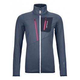 Dámská mikina Ortovox W's Fleece Grid Jacket Velikost: M / Barva: modrá