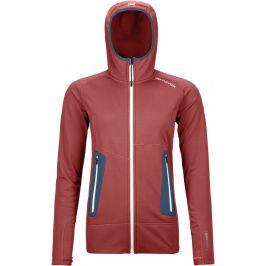 Dámská mikina Ortovox Fleece Light Hoody W Velikost: M / Barva: červená