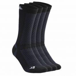 Ponožky Craft Warm 2-pack Velikost ponožek: 34-36 / Barva: černá