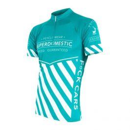 Pánský cyklistický dres Sensor Superdomestic Velikost: XXL / Barva: světle modrá
