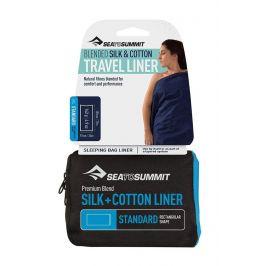 Sea to Summit Vložka do spacáku StS Silk+Cotton Liner Standard Rectangular Barva: modrá