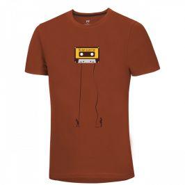 Pánské triko Ocún Classic Tape Men Retro Tape Rooibos Velikost: M / Barva: hnědá