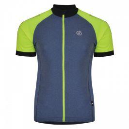 Cyklistické triko Dare 2b Accurate Jersey Velikost: S / Barva: šedá/žlutá