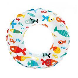 Kruh Intex Lively Print Swim Ring 59230NP Barva: Ryby
