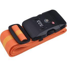 Popruh na zavazadla Extol TSA s trojmístným kódem Barva: oranžová