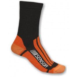 Ponožky Sensor Treking Evolution Velikost ponožek: 39-42 (6/8) / Barva: černá/oranžová