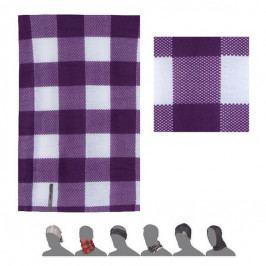 Šátek Sensor Tube Kostka fialová/bílá