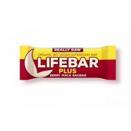 Lifefood Tyčinka Lifebar Plus Třešňová Maca Baobab RAW BIO 47 g