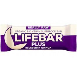 Lifefood Tyčinka Lifebar Plus Borůvková S Quinou RAW BIO 47 g