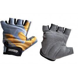Dětské cyklistické rukavice Progress Kids Mitts 26RX Velikost rukavic: M / Barva: šedá/oranžová