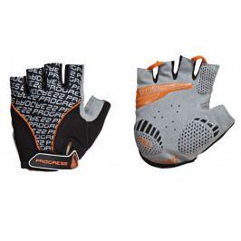 Cyklistické rukavice Progress Pull Mitts 37CA Velikost: M / Barva: černá/oranžová