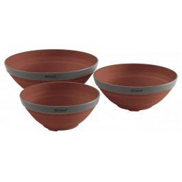 Sada misek Outwell Collaps Bowl Set Barva: hnědá