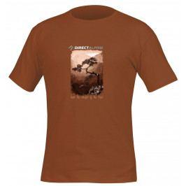 Pánské triko Direct Alpine Organic 1.0 Cinnamon Velikost: M / Barva: hnědá