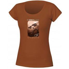 Dámské triko Direct Alpine Organic 1.0 Cinnamon Velikost: S / Barva: hnědá