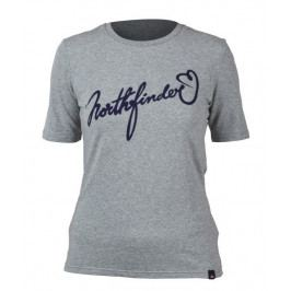 Dámské triko Northfinder Talia Velikost: M / Barva: šedá