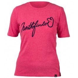 Dámské triko Northfinder Talia Velikost: L / Barva: růžová