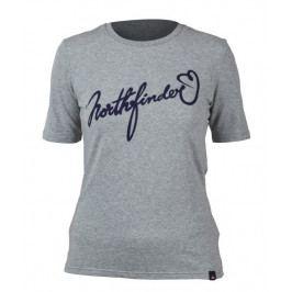 Dámské triko Northfinder Talia Velikost: XL / Barva: šedá