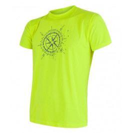 Pánské triko Sensor Coolmax Fresh PT Kompas Velikost: L / Barva: žlutá