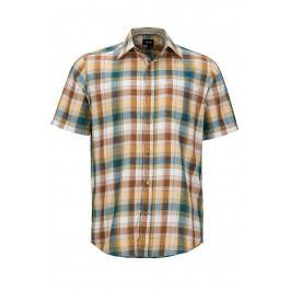 Pánská košile Marmot Notus SS Velikost: M / Barva: hnědá
