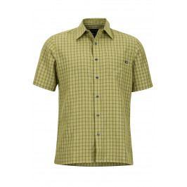 Pánská košile Marmot Eldridge SS Velikost: S / Barva: zelená