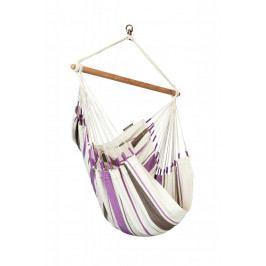 Houpací sedačka La Siesta Caribeňa Basic Barva: bílá/fialová