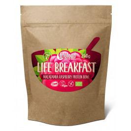 Kaše Lifefood Life Breakfast Bio Raw malinová s makadamiemi