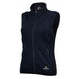 Dámská vesta Warmpeace Trailmark Powerstretch Velikost: XL / Barva: černá