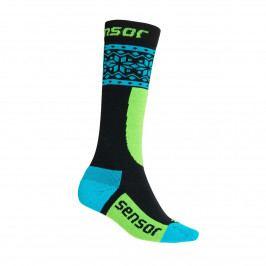 Ponožky Sensor Thermosnow Norway Velikost ponožek: 33-34 (1-2) / Barva: černá/modrá