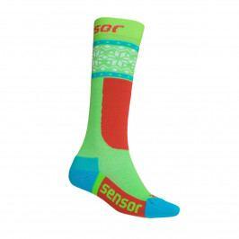 Ponožky Sensor Thermosnow Norway Velikost ponožek: 35-38 ( 3-5) / Barva: zelená/bílá